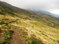 Sentiero del Val Colla Bike che collega l'Alpe Pietrarossa con Piandanazzo - Sullo sfondo l'Alpe Pietrarossa