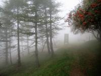 Arrivo a Piandanazzo nella nebbia