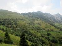 In direzione della Bocchetta di San Bernardo - Panorama sulla strada percorsa