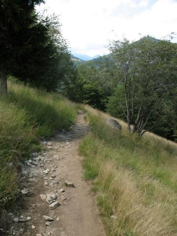Single-track in direzione di Rasa