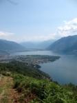 Locarno e Ascona con Piano di Magadino sullo sfondo