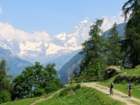 Sterrata della Passeggiata La Magdeleine-Chamois, panorama su Cervino