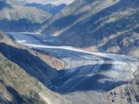 Panorama dall'Aletschbord di Belalp: ghiacciaio dell'Aletsch