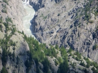 Panorama dall'Aletschbord di Belalp: passerella artificiale ai margini del ghiacciaio dell'Aletsch