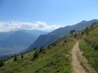 Sentiero di ritorno dall'Aletschbord in direzione della funivia di Belalp