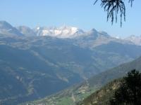 Discesa verso Briga da Unners Nesseltal - panorama sull'altopiano dell'Aletsch