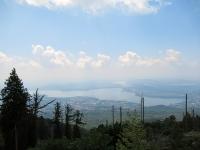 Panoramica del Lago di Varese percorrendo la militare che conduce al Forte di Orino