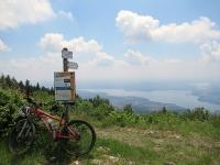 Forte di Orino - panorama sulla pianura del varesotto con lago di Varese in primo piano