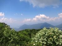 Panorama dal Forte di Orino - Sasso del Ferro (Laveno) e Monte Nudo
