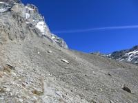Il traverso ciclabile che segue dopo il Rifugio Oriondè Duca Degli Abruzzi