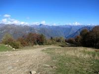 Il tratto ripido sulla pista da sci che conduce presso la baita Il Boschetto di Mera