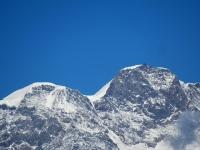 Monte Rosa - la Punta Parrot (m.4436) a sinistra e la Punta Gnifetti (m.4559) a destra con la sovrastante Capanna Margherita
