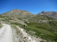 In direzione del Col de Granon - Il tratto di falsopiano finale