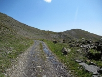 Lo sterrato che dalla Poin Cotè sale al Col des Cibiéres