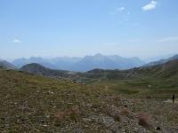 Grande panorama dal Col de L'Oule sull'area del Col de Granon (dx)
