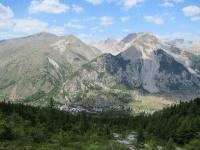 Discesa in Val de la Clarée - Panorama su Nevache