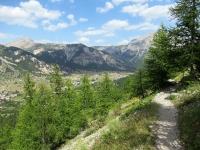 Discesa in Val de la Clarée - Il bel sentiero che segue il tratto più impegnativo della discesa