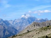 Col de Granon - Massiccio degli Ecrins,  Piz Gaspard (3.880) e La Meije (3.983)