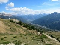 Panorama sulla Valle della Guisane con Briançon sullo sfondo