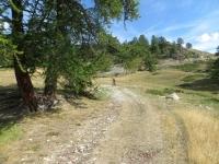 In direzione del Col de Granon in prossimità dell'alpeggio di Blanchard