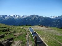 Panorama dall'alpeggio di Les Ors basso