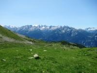 Bel panorama dall'alpeggio di Les Ors basso - Si nota la strada percorsa per la salita