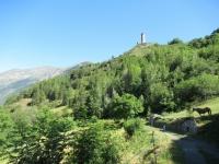 Sulla pista da fondo di  La Clusaz - Vista sul Castello Chatelard