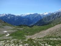Panorama dal Col Fetita sugli alpeggi di Les Ors