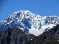 Panorama dal Col Fetita - La maestosa vetta del Monte Bianco