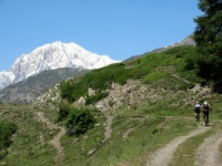 Salita all'alpeggio di Les Ors