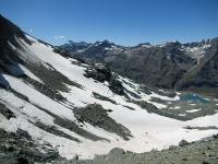 Il Glacier de Vaudalettaz visto dal Col Leynir