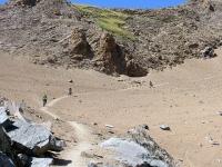 Parte finale della discesa all'interno del vallone del Leynir