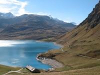 Lago del Moncenisio - sponda opposta alla diga in prossimità del Colle