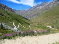 Salita al Colle del Sommeiller - In direzione del Pian dei Morti, panoramica sul Plan du Fond ed il Rifugio Scarfiotti