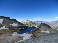 Il lago glaciale nei pressi del Colle del Sommeiller