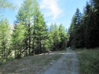La strada della decauville che collega il lago di Rochemolles con i Bacini Frejusia