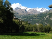 Panorama su alcuni rilievi della Val d'Ayas
