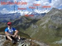 Dettaglio catena del Monte Rosa in prossimità della Punta palasina