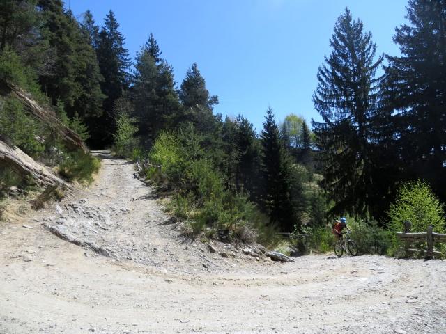 La forestale che sale alla Colma di Craveggia