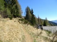 Il sentiero che conduce alla Colma di Craveggia