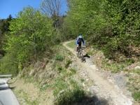 Termine del sentiero che dall'Oratorio di San Rocco scende a valle