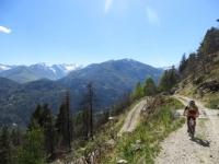 Percorrendo la sterrata che scende dall'Alpe Fontana Verde