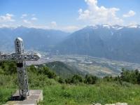 Panorama sul fondovalle e sulla Val Vigezzo dall'Alpe Casalavera