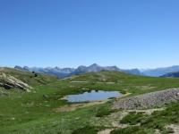Lago alpino nei pressi del Col du Granon