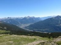 Discesa dal Col du Granon, vista su Briançon