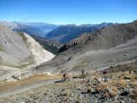 Colle dello Chaberton - Vista sul sottostate vallone del Pian dei morti