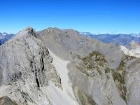 La Pointe des Trois Sciés e la Pointe Rochers Charniers - Panorama salendo in vetta allo Chaberton