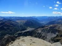 Panorama dalla cima dello Chaberton - L'area del Monginevro e di Briançon