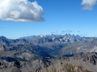 Panorama dalla cima dello Chaberton - Massiccio della Vanoise. Al centro l'Alta val di Susa (Bardonecchia)
