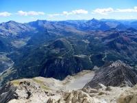 Panorama dalla cima dello Chaberton - L'area del Monginevro e dei Monti della Luna (Cesana torinese/Claviere)